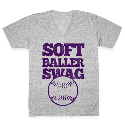 Soft Baller Swag V-Neck Tee Shirt