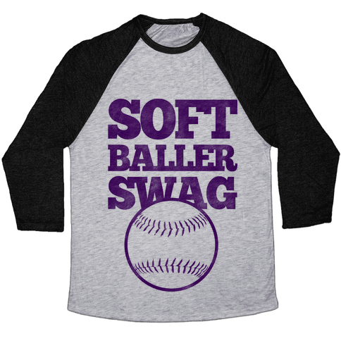 Soft Baller Swag Baseball Tee