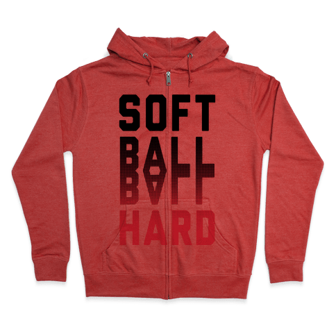 Soft Ball Ball Hard Zip Hoodie