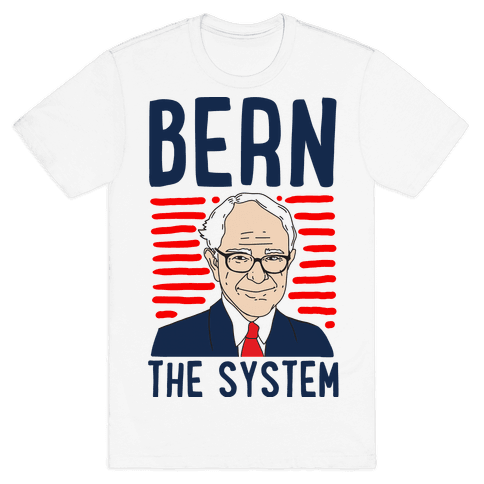 Bern the System Mens T-Shirt
