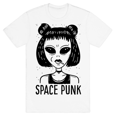 Space Punk Alien Mens T-Shirt