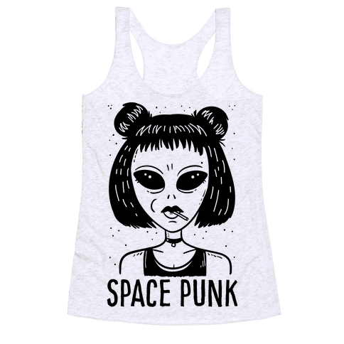 Space Punk Alien Racerback Tank Top