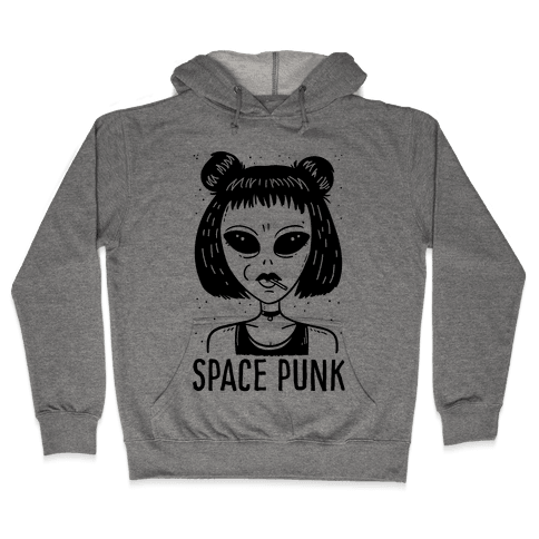 Space Punk Alien Hooded Sweatshirt