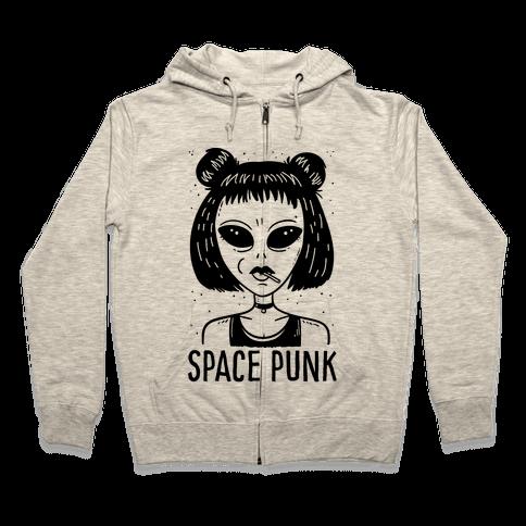 Space Punk Alien Zip Hoodie
