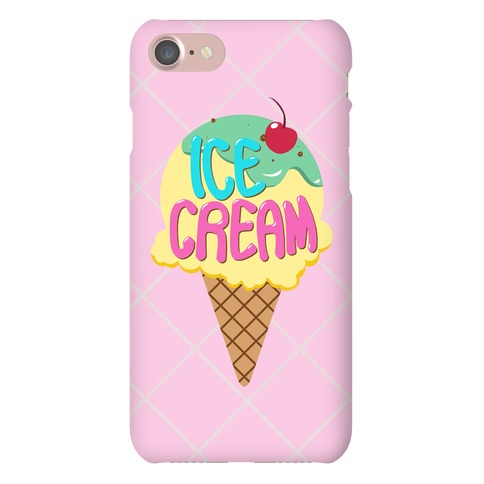 Pastel Ice Cream Cone Phone Case