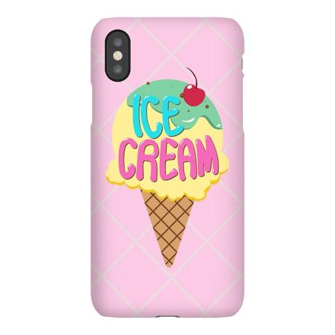 Pastel Ice Cream Cone Phone Case