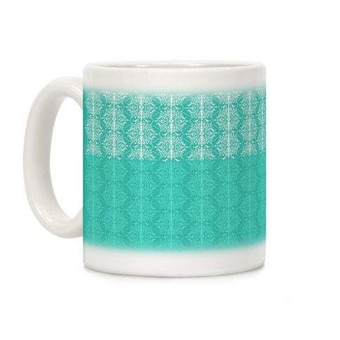 Teal Medieval Ombre Pattern Coffee Mug
