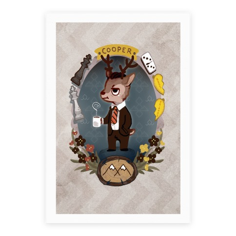Twin Peaks Dale Cooper Deer Canvas Print Poster