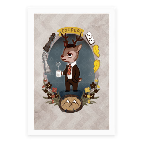 Twin Peaks Dale Cooper Deer Canvas Print