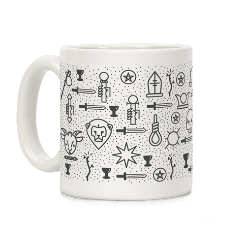 Tarot Card Pattern Coffee Mug