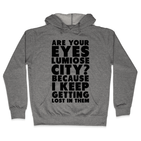 Are Your Eyes Lumiose City? Hooded Sweatshirt