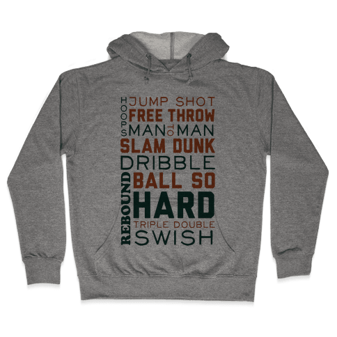 Basketball Typographic (Green and Orange) Hooded Sweatshirt