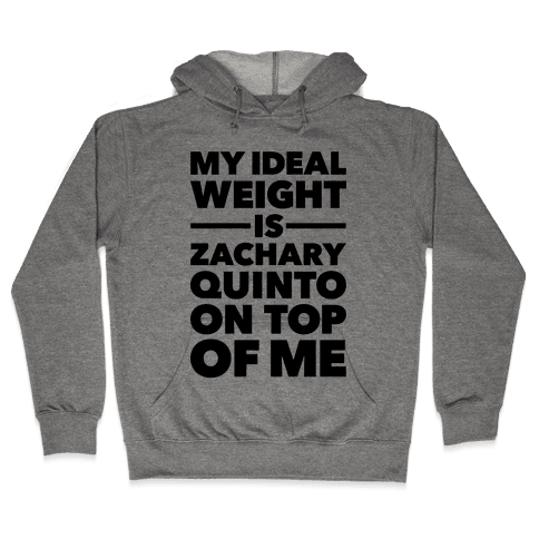 Ideal Weight (Zachary Quinto) Hooded Sweatshirt