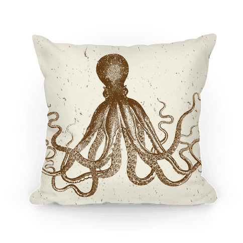 Vintage Octopus (Cream) Pillow