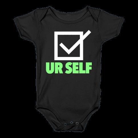 Check Ur Self Baby Onesy