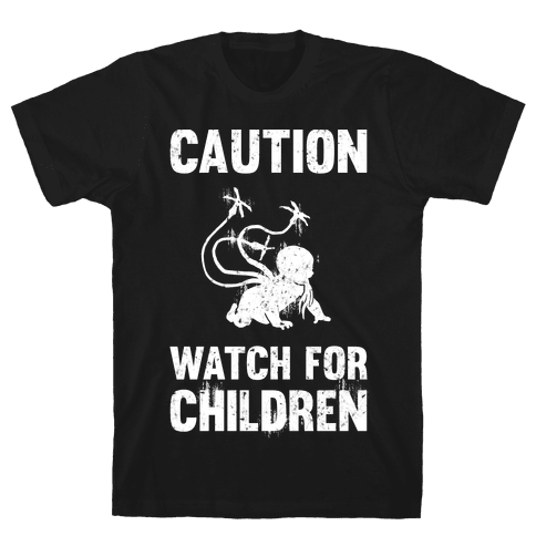 Caution Watch For Children Mens T-Shirt