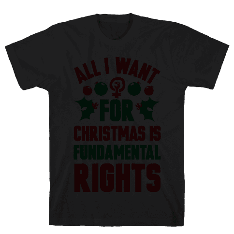 All I Want For Christmas Is Fundamental Rights Mens T-Shirt