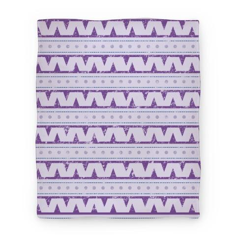 Aztec Zig Zag Pattern Blanket Blanket