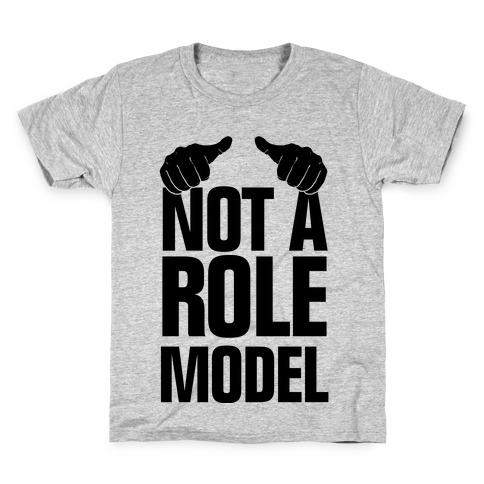 Not a Role Model (Thumbs Up) Kids T-Shirt