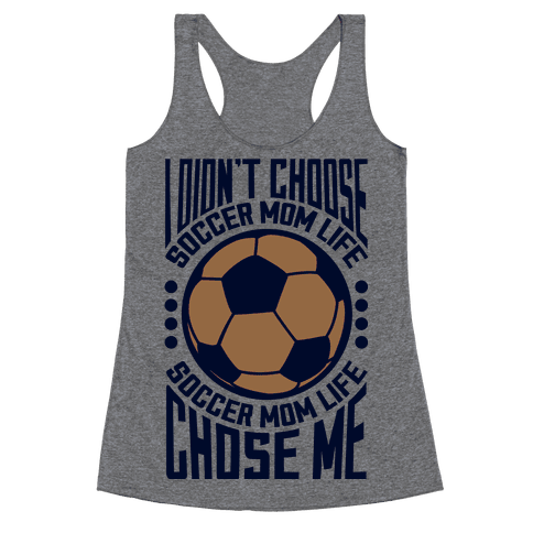 Soccer Mom Life (dark) Racerback Tank Top