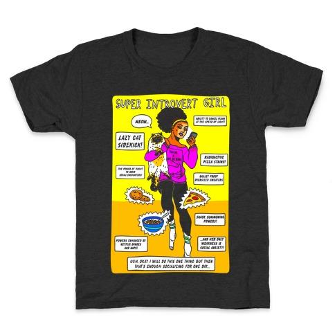 Super Introvert Girl Kids T-Shirt