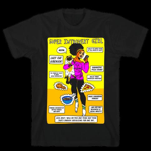 Super Introvert Girl Mens T-Shirt