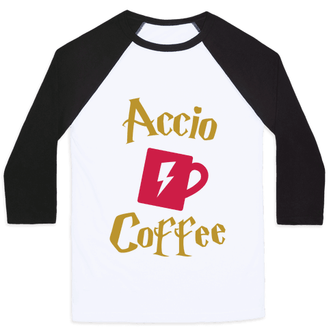 Accio Coffee Baseball Tee