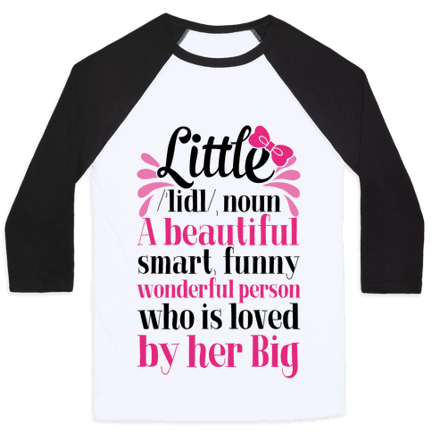 Little Definition (Sorority) Baseball Tee