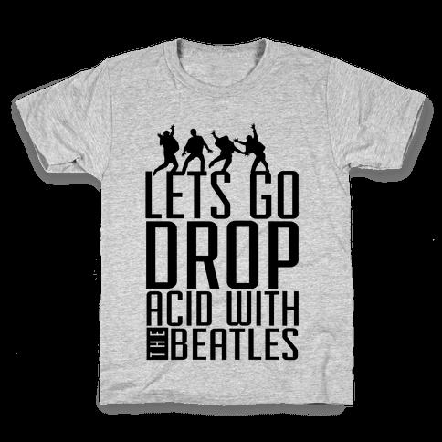 Trippy Cartoon Beatles Kids T-Shirt