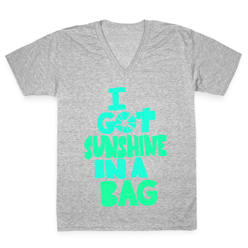 Sunshine in a Bag V-Neck Tee Shirt