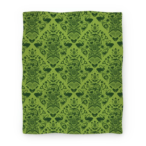 Legend Of Zelda Equip Pattern Blanket