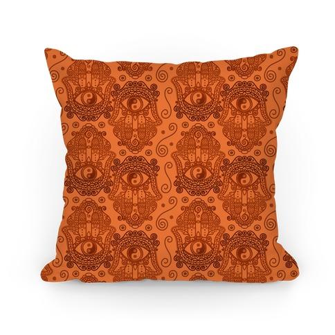 Peaceful Hamsa Hand Pillow