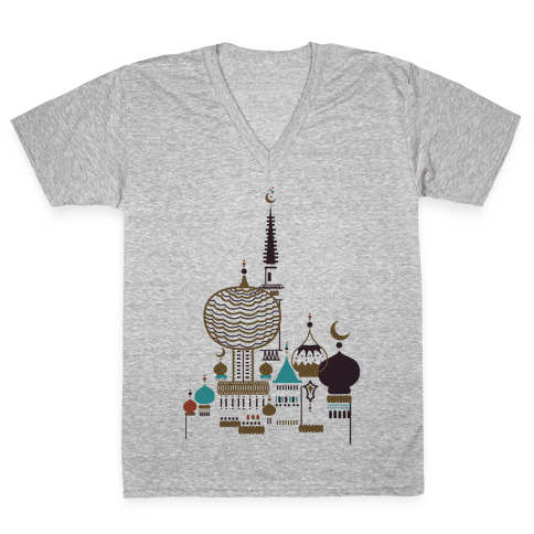 Russian Cathedral V-Neck Tee Shirt