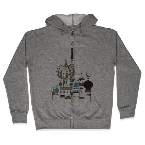 Russian Cathedral Zip Hoodie