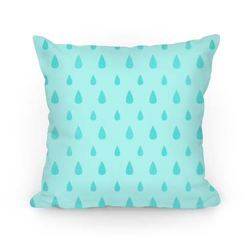 Teal Tear Drop Pattern Pillow
