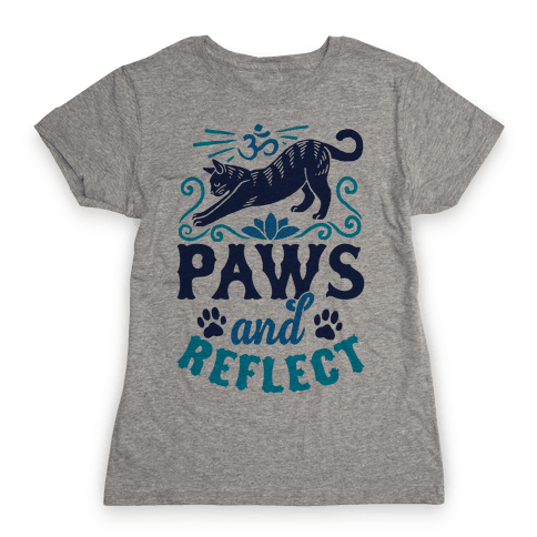 Paws And Reflect (Cat) Womens T-Shirt