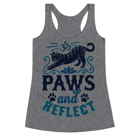 Paws And Reflect (Cat) Racerback Tank Top