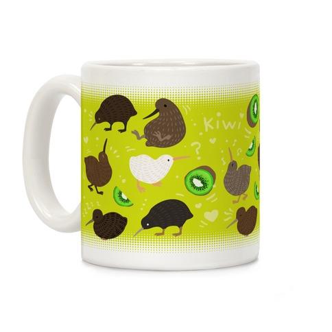 Kiwi Bird Pattern Coffee Mug