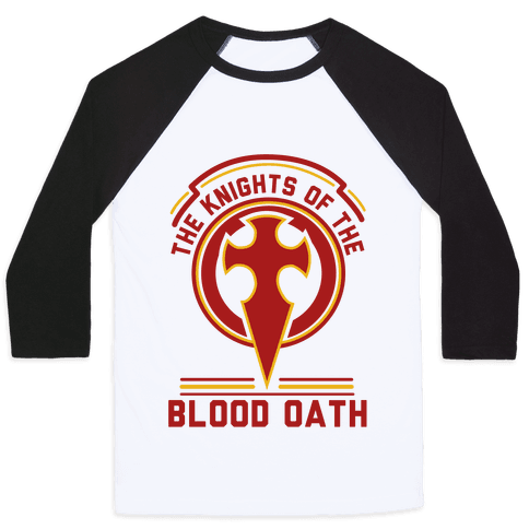 The Knights of The Blood Oath Baseball Tee
