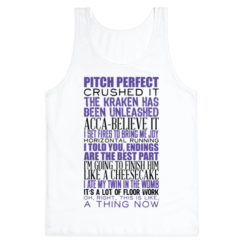 Pitch Perfect Quotes Tank Top