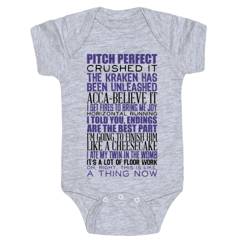 Pitch Perfect Quotes Baby Onesy
