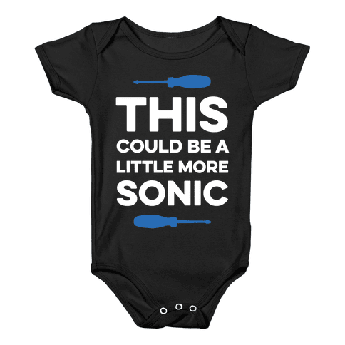 This Could Be A Little More Sonic Baby Onesy