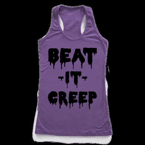 Beat It Creep Racerback Tank Top