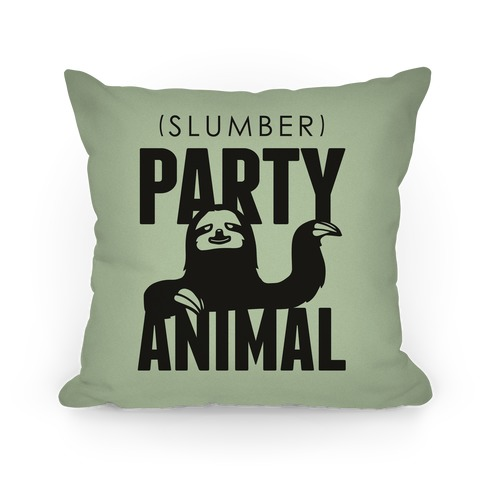 Slumber Party Animal Pillow