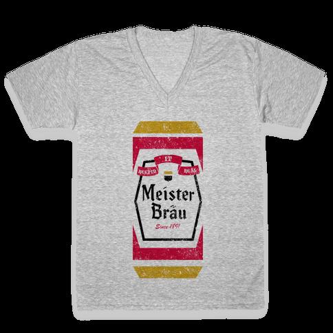 Meister Brau Vintage V-Neck Tee Shirt