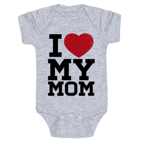 I Heart My Mom Baby Onesy