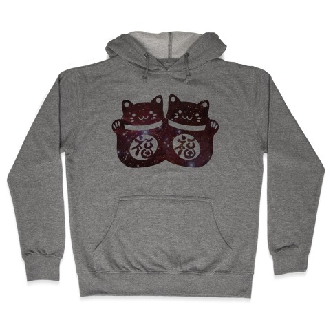 Cosmic Luck Cats Hooded Sweatshirt