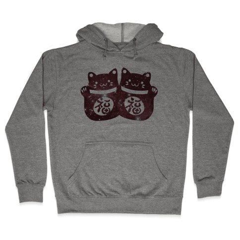 Cosmic Luck Cats Hooded Sweatshirt