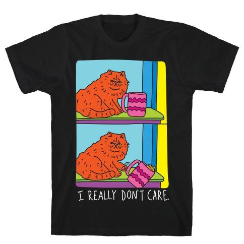 I Really Don't Care Cat Mens T-Shirt