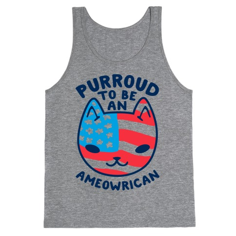 Purroud to be an Ameowrican Tank Top